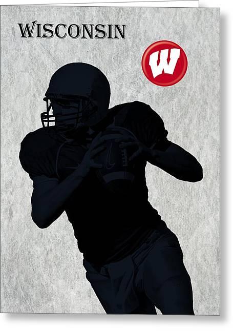 Wisconsin Football Greeting Card by David Dehner