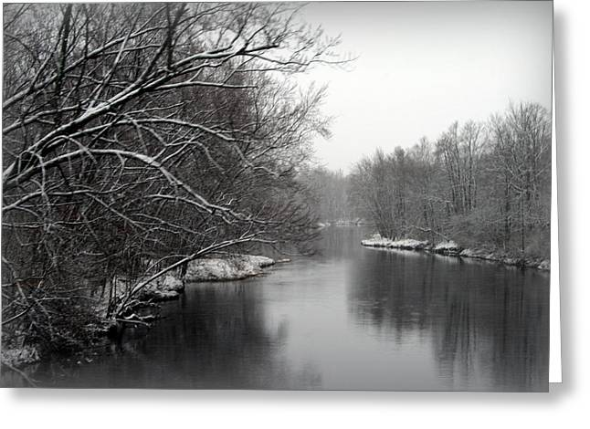 Wisconsin River Greeting Card by Kay Novy