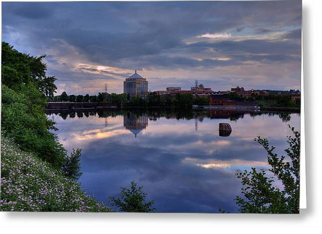 Wisconsin River Reflection Greeting Card