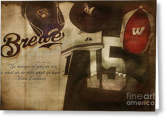 Wisconsin Sports Greeting Card