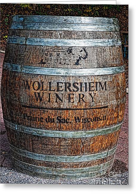 Wisconsin Wine Barrel Greeting Card