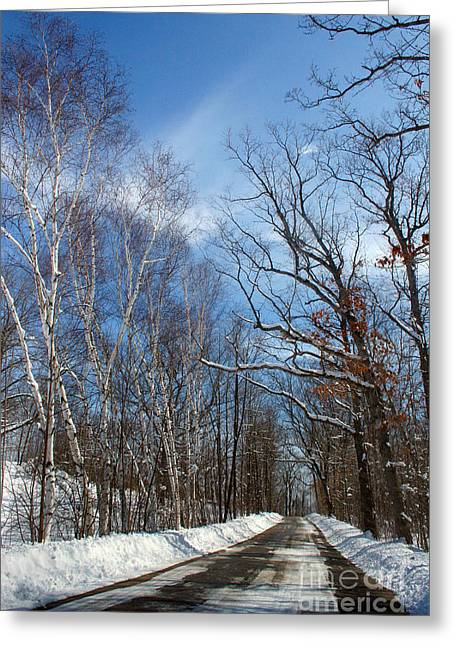 Wisconsin Winter Road Greeting Card