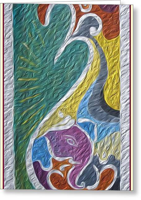 Wisdom And Peace I Greeting Card by Sonali Gangane