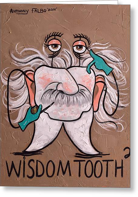 Greeting Card featuring the painting Wisdom Tooth 2 by Anthony Falbo
