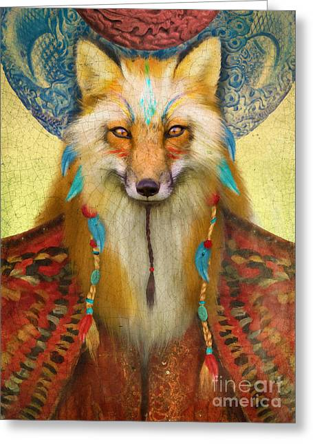 Wise Fox Greeting Card by Aimee Stewart