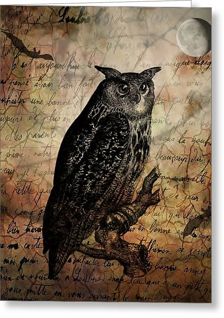 Wise Old Owl Greeting Card