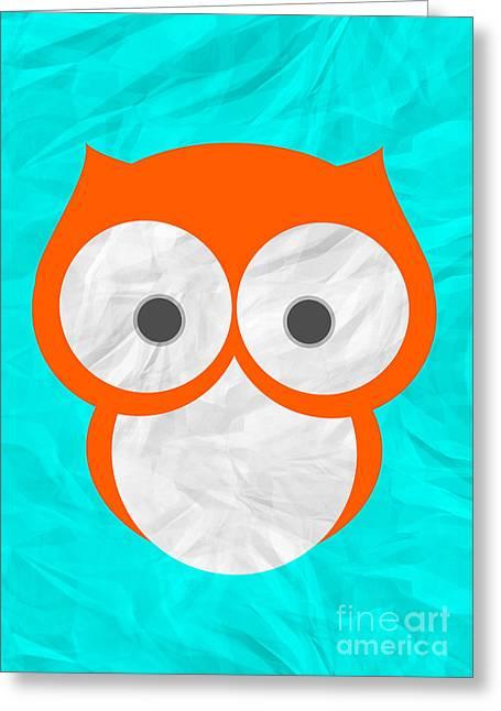 Wise Owl Greeting Card by Henrietta Buwalda