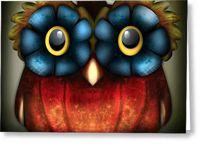 Wise Pumpkin Owl Greeting Card
