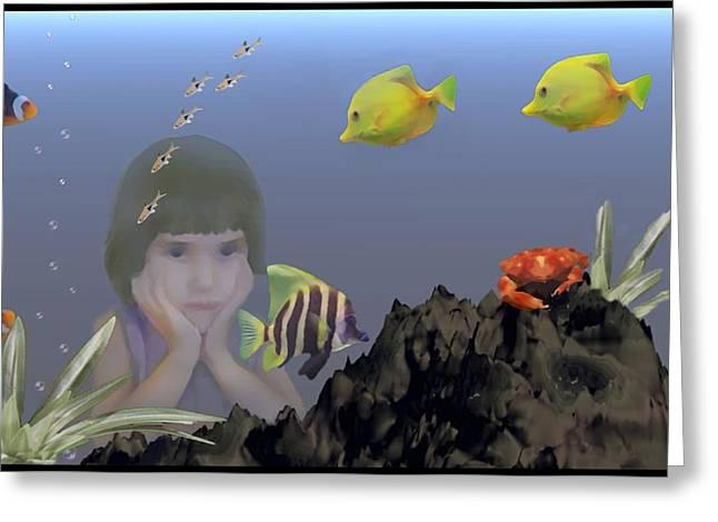 Wish I Could Swim Greeting Card by David Dehner