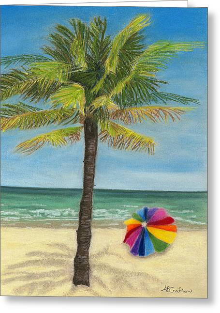 Wish I Was There Greeting Card by Arlene Crafton