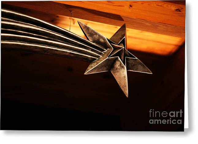Wish Upon A Shooting Star Greeting Card by Linda Shafer