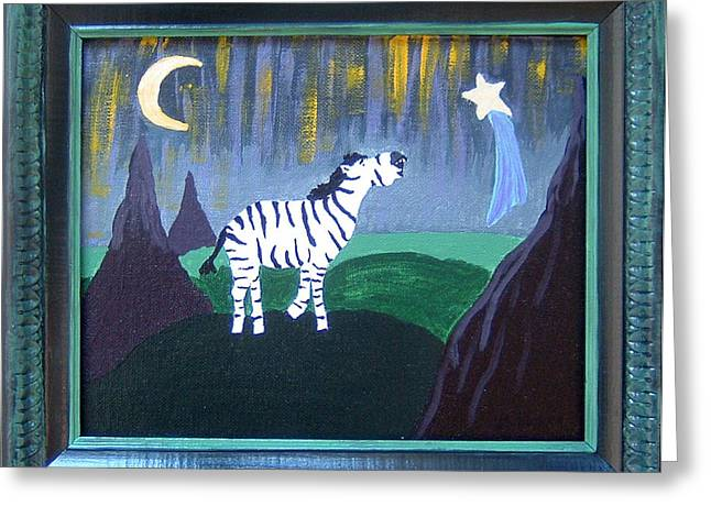 Wish Upon A Star Greeting Card by Yvonne  Kroupa