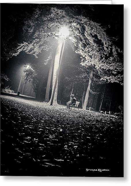 Greeting Card featuring the photograph Wish You Were Alone by Stwayne Keubrick