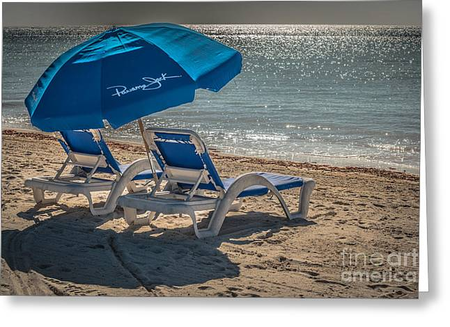 Wish You Were Here - Higgs Beach - Key West - Hdr Style Greeting Card by Ian Monk
