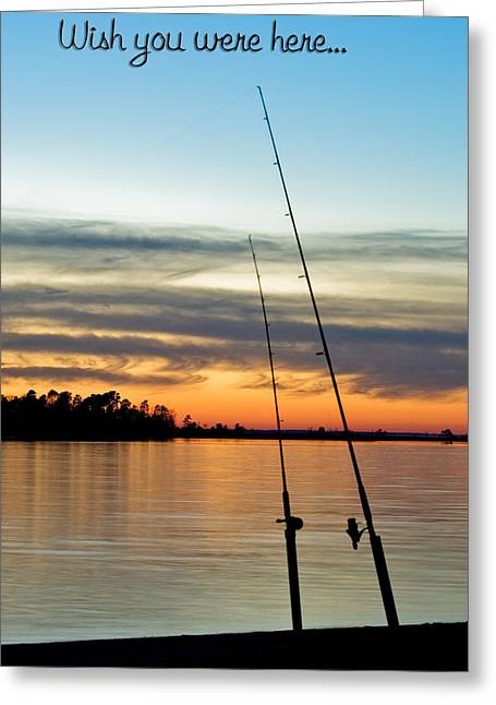 Wish You Were Here Greeting Card by Jeff Abrahamson
