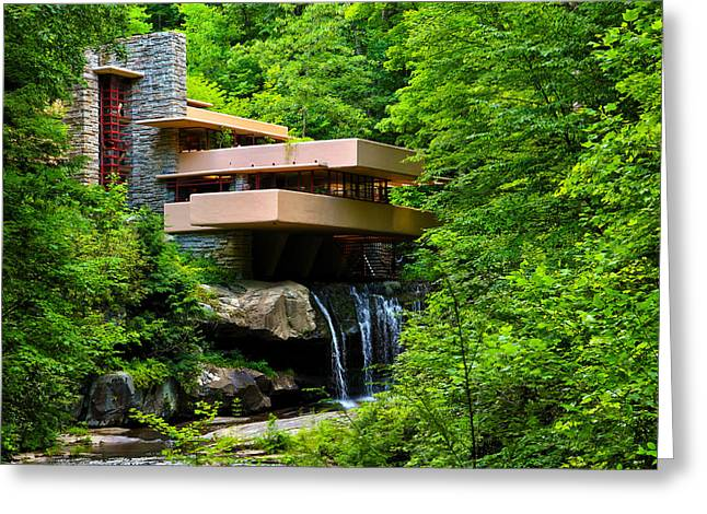 Wishes On Fallingwater Too Greeting Card