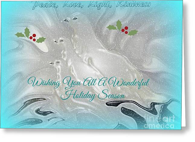 Wishing All A Wonderful Holiday Season Greeting Card by Sherri  Of Palm Springs