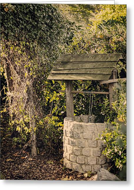Wishing Well Greeting Card by Heather Applegate