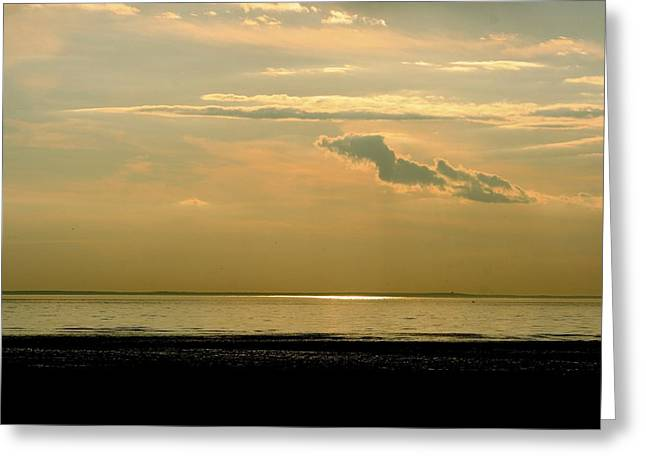 Wispy Sunset Greeting Card by Jim Gillen
