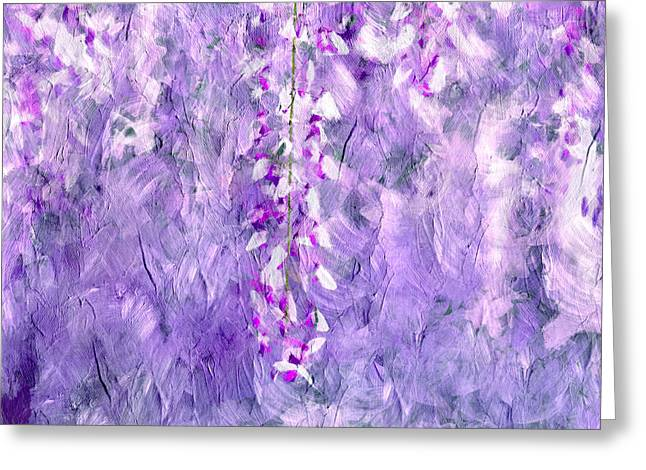 Wisteria Grunge Abstract Greeting Card