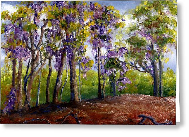 Wisteria In Louisiana Trees Greeting Card