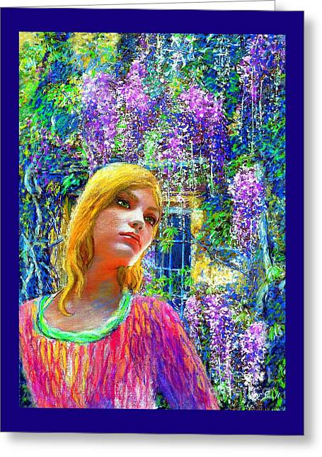 Wisteria Greeting Card by Jane Small