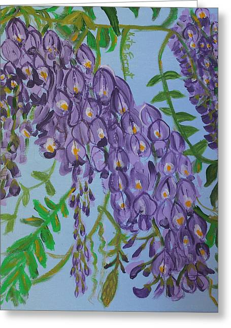 Purple Flowers Greeting Card by Kate Farrant
