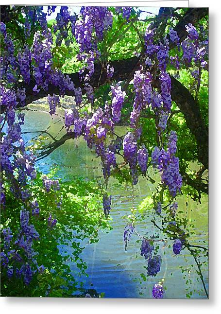 Wisteria Over Turtle Creek Greeting Card