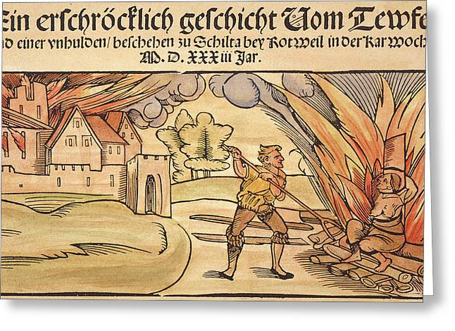 Witch Burning, 1533 Greeting Card