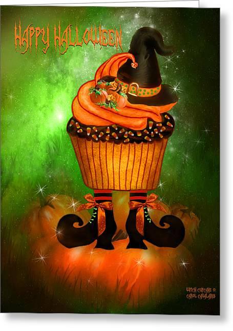 Witch Cupcake 4  Greeting Card