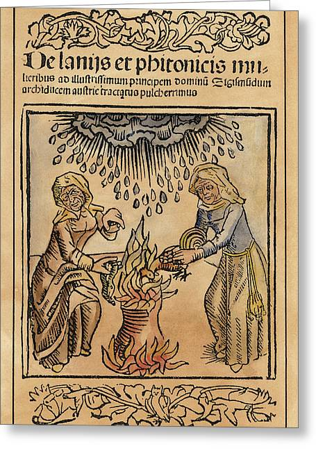 Witches, 1489 Greeting Card by Granger
