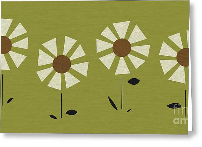 Witco Daisies Greeting Card by Donna Mibus