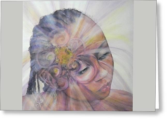 With Dahlia Greeting Card by Jodie Marie Anne Richardson Traugott          aka jm-ART