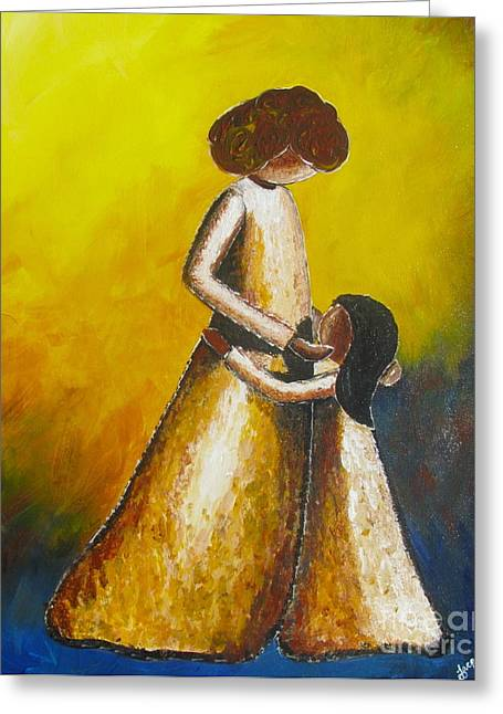 Greeting Card featuring the painting With Her by Jacqueline Athmann