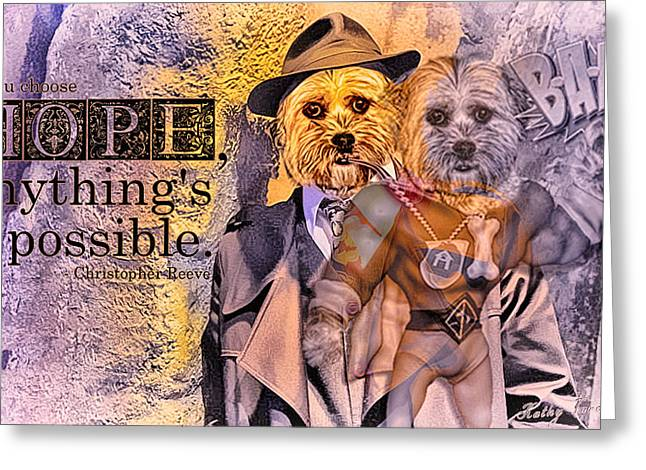 With Hope Anything Is Possible 3 Greeting Card by Kathy Tarochione