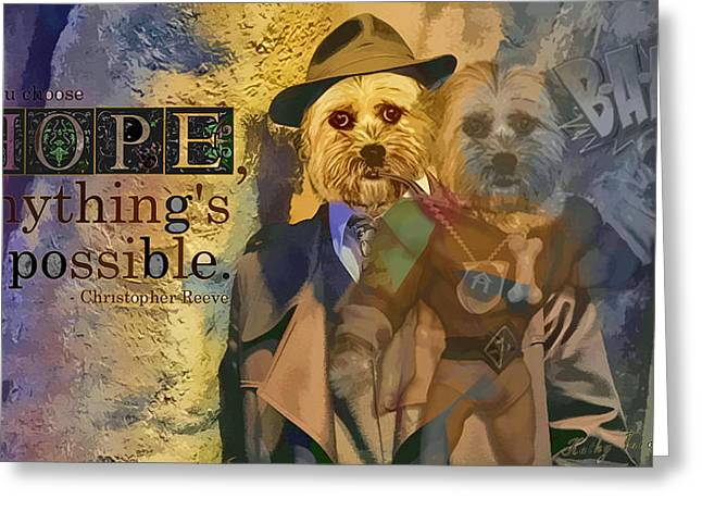 With Hope Anything Is Possible 5 Greeting Card by Kathy Tarochione