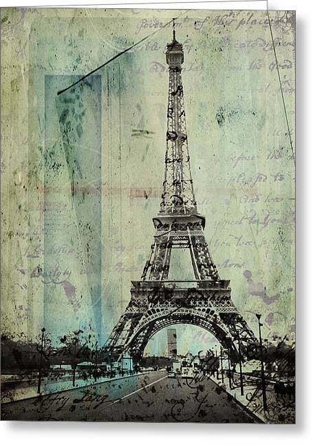 With Love From Paris  Greeting Card by Steven  Taylor