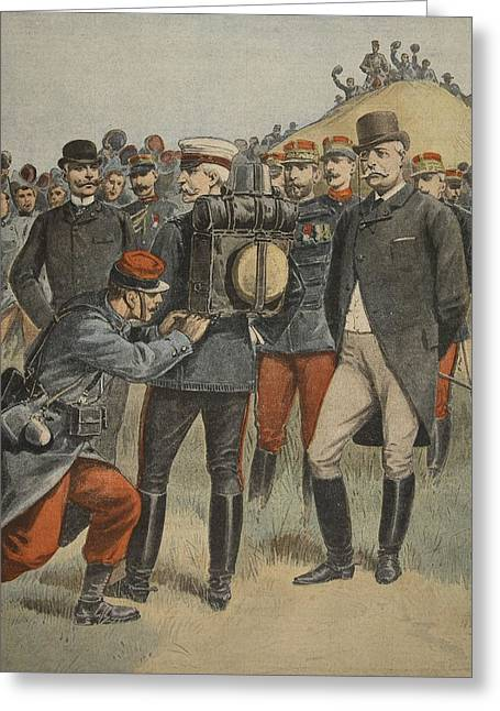 With The Army Manoeuvres The Duke Greeting Card by French School