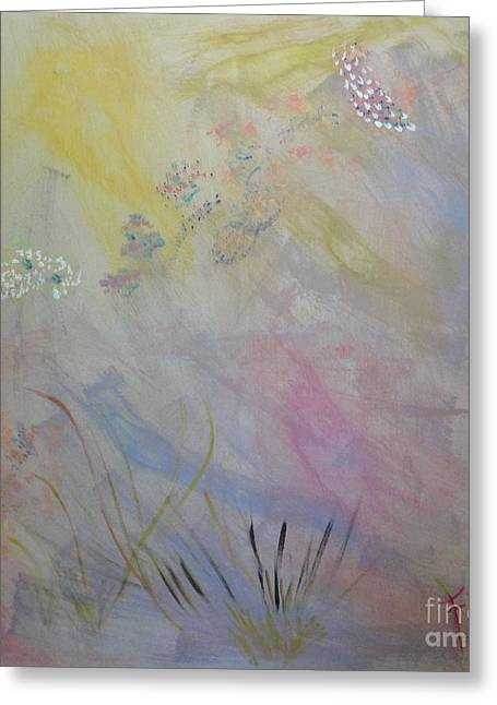 Greeting Card featuring the painting Withered Kansas Summer by PainterArtist FIN