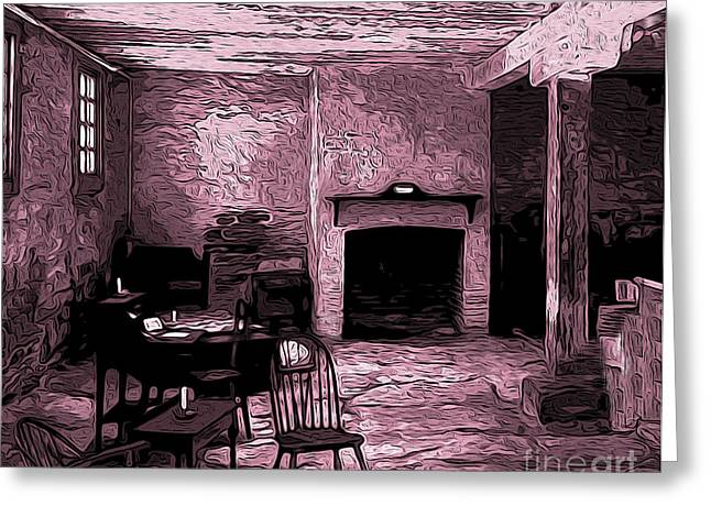 Within The Commissary Greeting Card by R McLellan