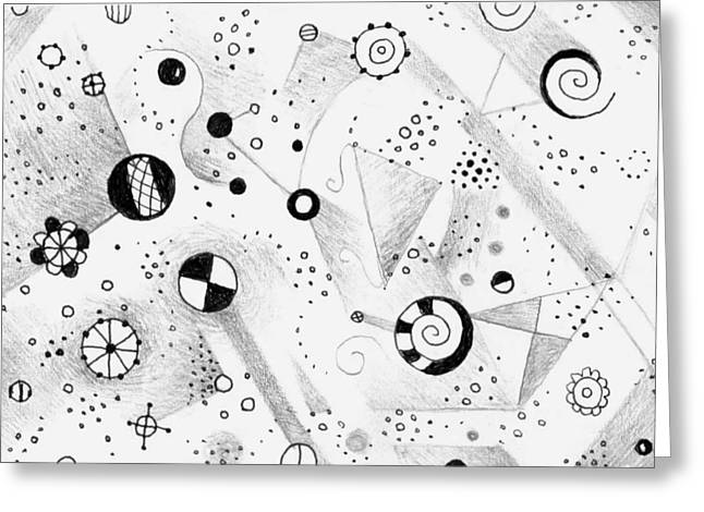 Without Gravity Greeting Card by Helena Tiainen