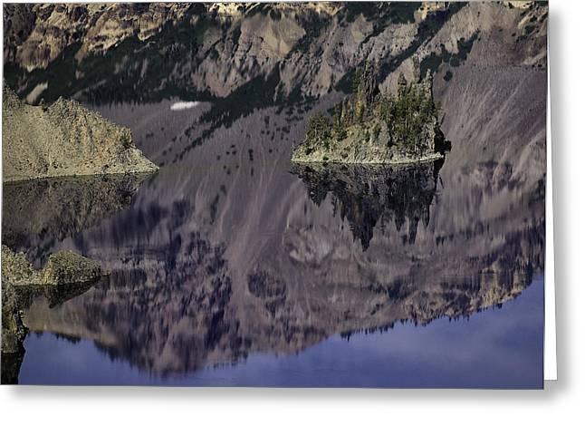Wizard Island At Crater Lake Greeting Card