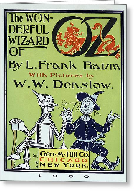 Wizard Of Oz Book Cover  1900 Greeting Card by Daniel Hagerman