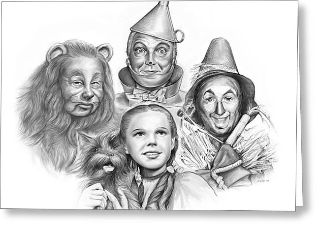 Wizard Of Oz Greeting Card by Greg Joens