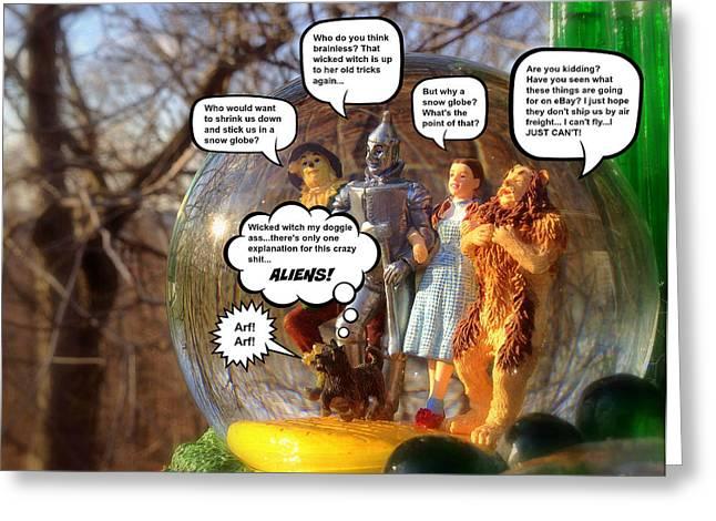 Wizard Of Oz Humor IIi Greeting Card by Aurelio Zucco