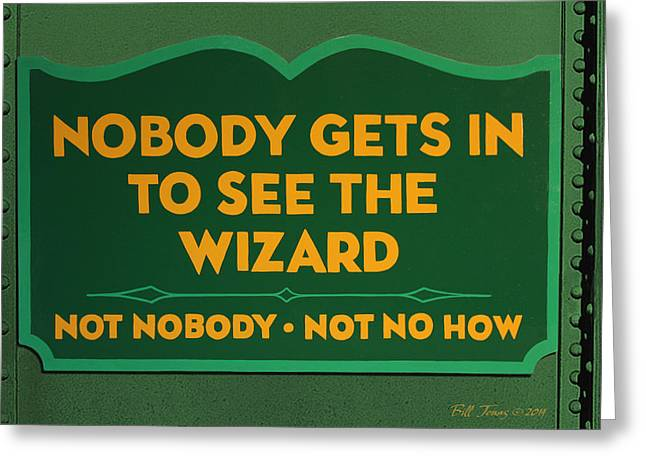 Wizard Sign Greeting Card by Bill Jonas
