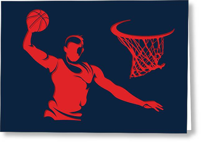Wizards Basketball Player2 Greeting Card by Joe Hamilton