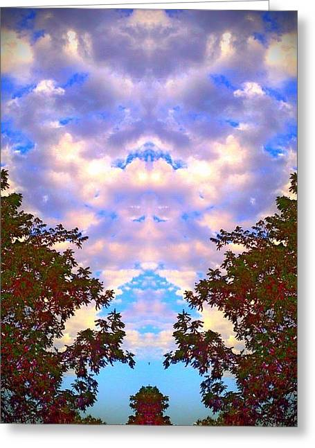 Greeting Card featuring the photograph Wizards In The Clouds by Karen Newell