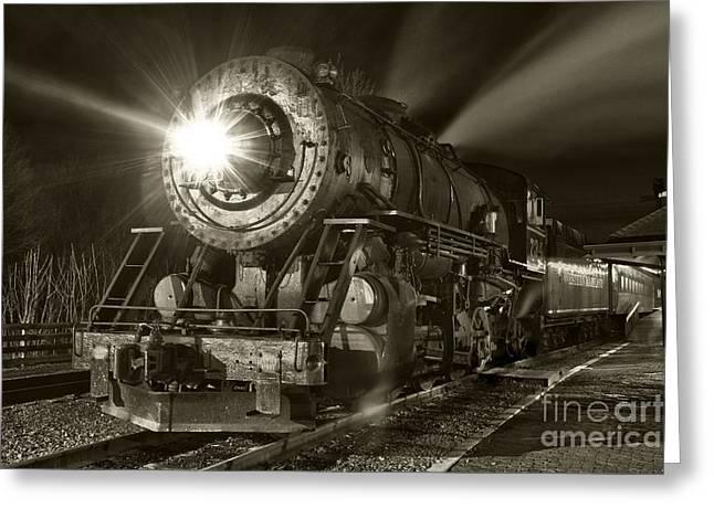 Wmsr Engine 734 At The Frostburg Depot Greeting Card