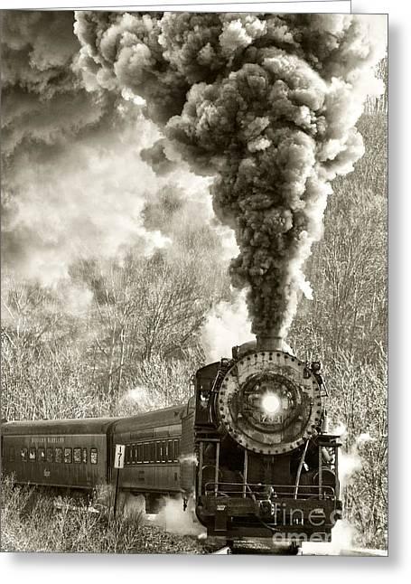 Wmsr Steam Engine 734 Greeting Card